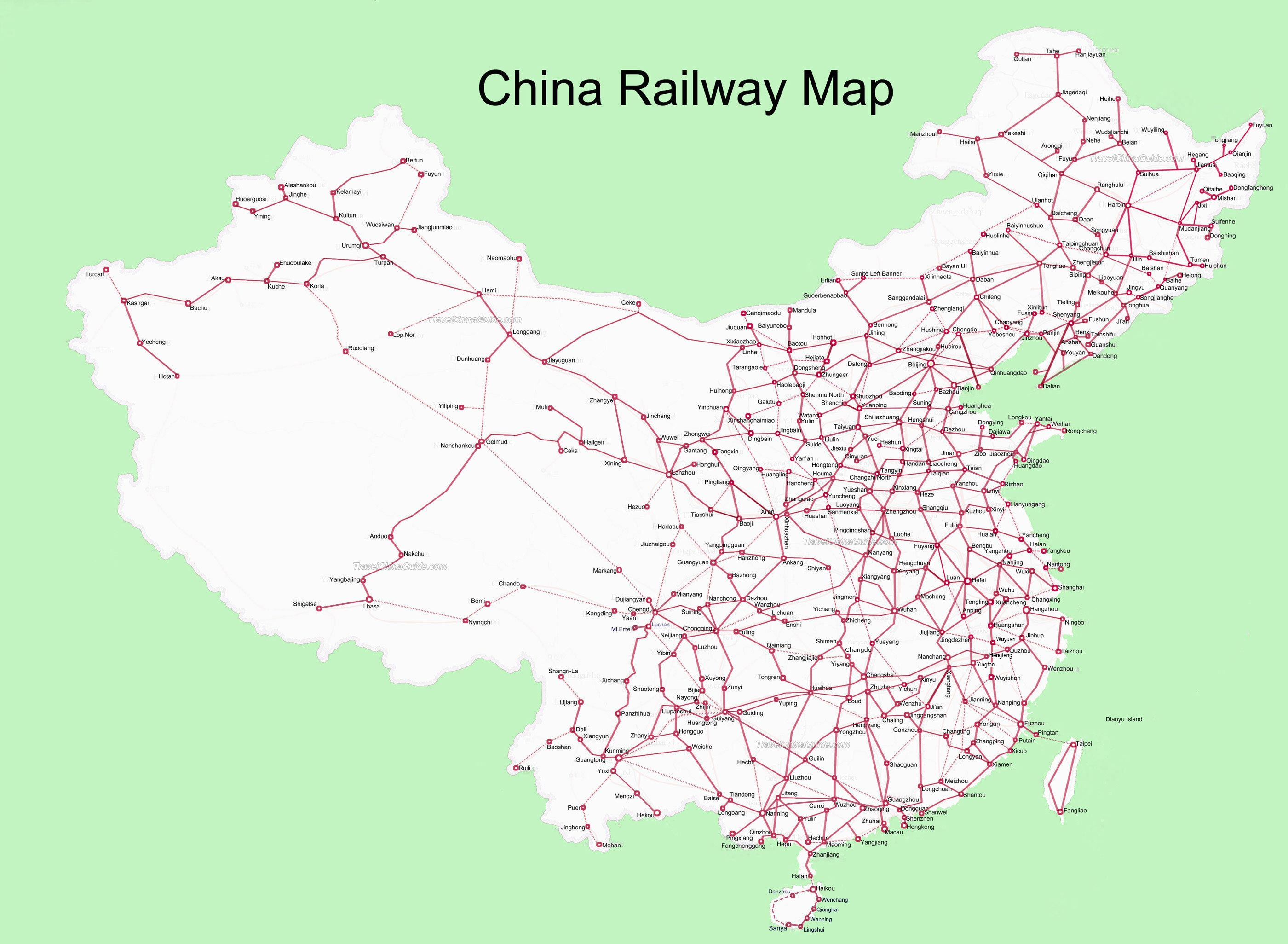 China High-Speed railway map