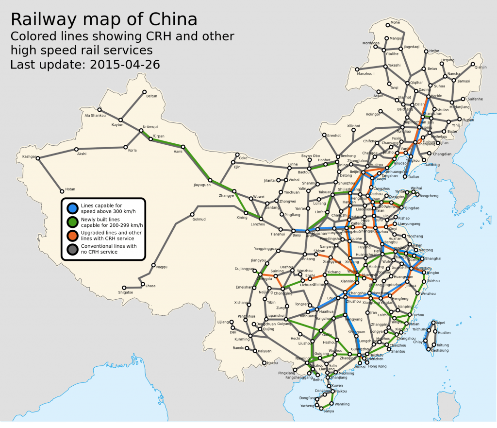 China Railway Network Map