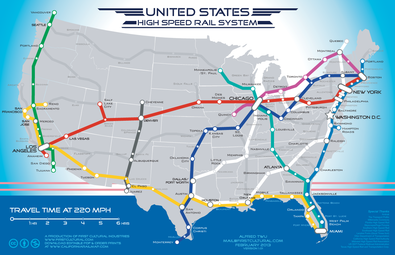 US-High-Speed-Rail-System-Dream-Map