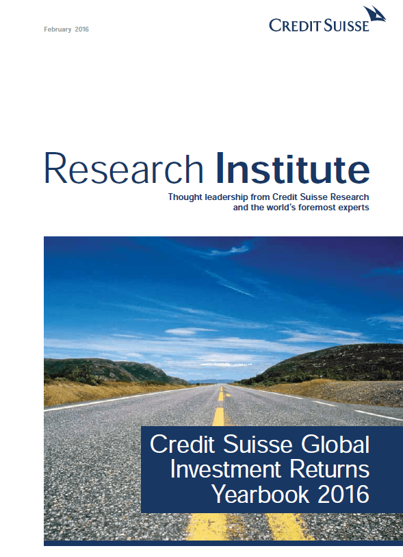 Credit Suisse Global Investment yearbook 2016