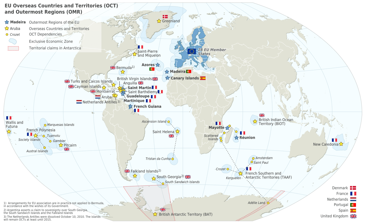 EU Overseas Countries and Territories Map