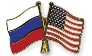 usa russia flag