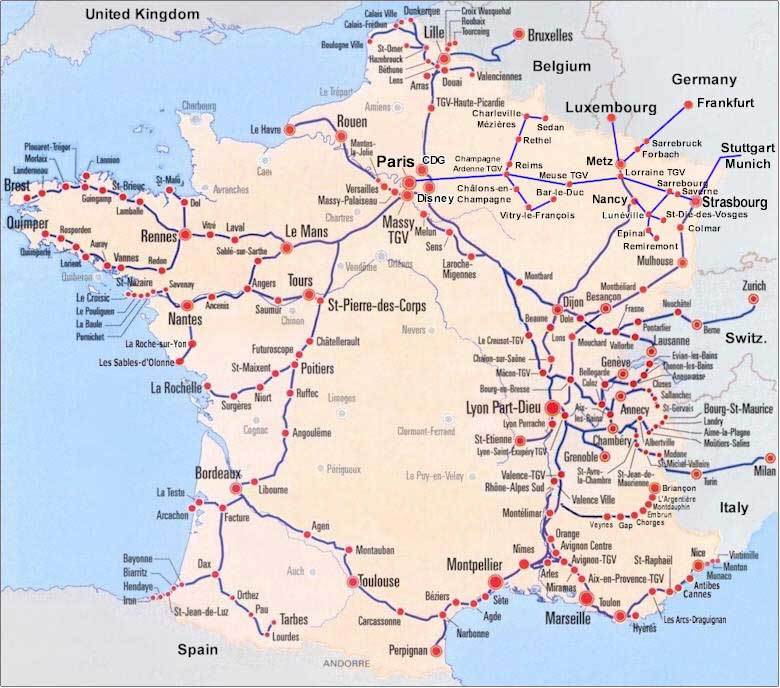 TGV Stations Map
