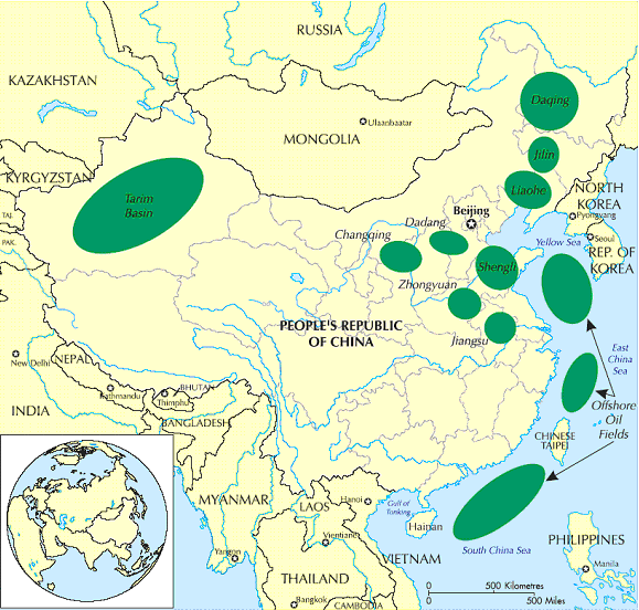 china oilfields Map