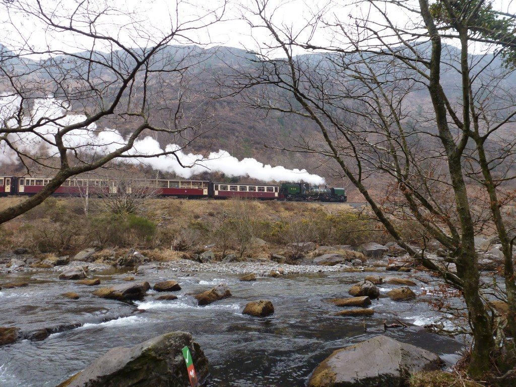 Train in North Wales