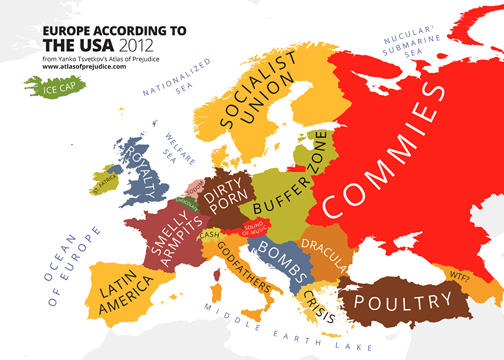 Mainland Europe Map.Hilarious Maps Of Asia Europe Mainland Usa And The World