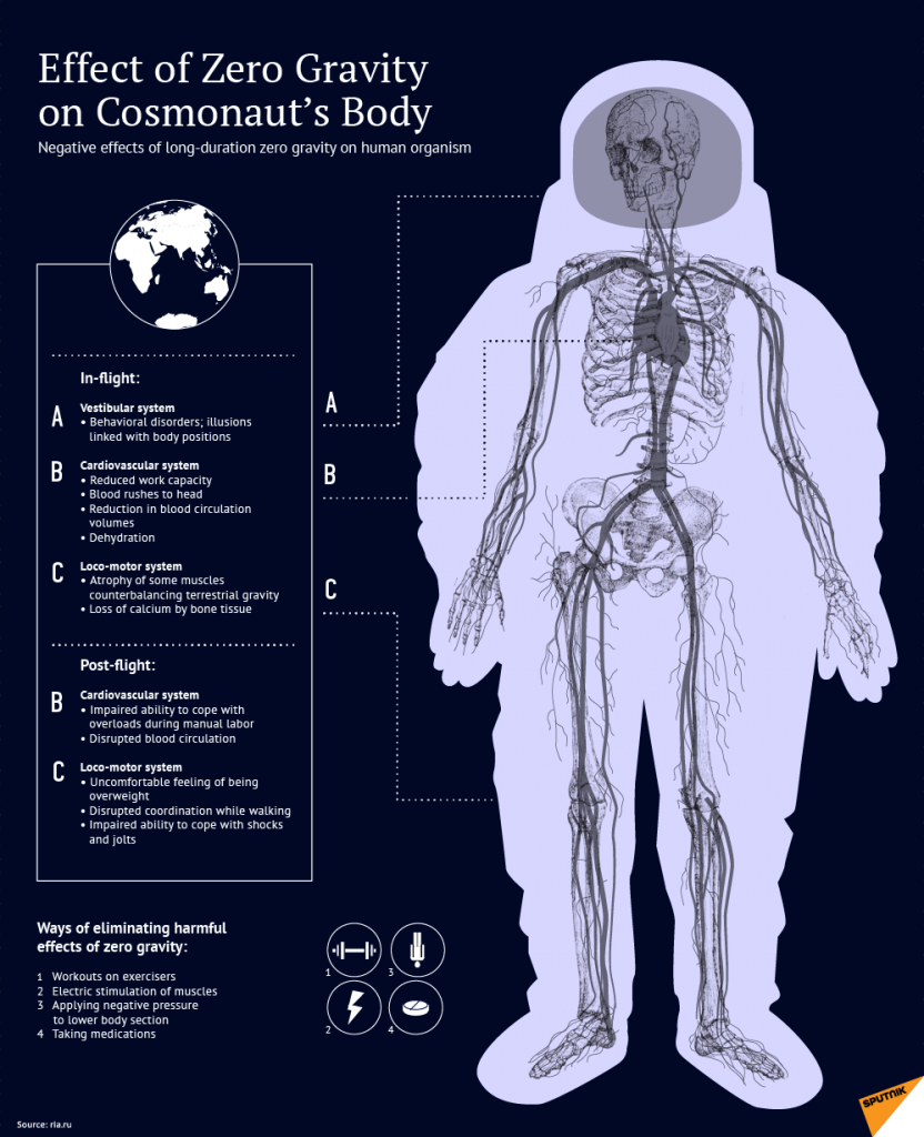 Effects of Zero gravity on Human Body