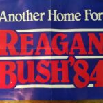 Reagan and Bush 1984 Re-election Campaign Poster
