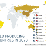 The Top Ten Gold Producing Countries in 2020: Chart